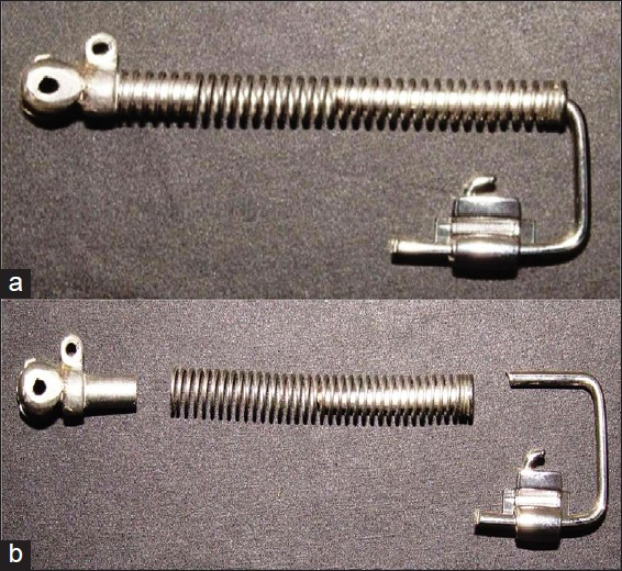 Figure 5: (a and b) Sliding jig assembly